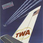 TWA tail fin-ink